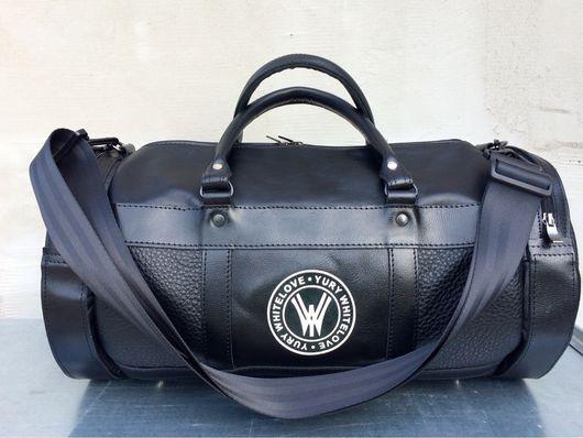 """Спортивные сумки ручной работы. Ярмарка Мастеров - ручная работа. Купить Кожаная сумка """"Black Traveler """". Handmade. Сумка"""