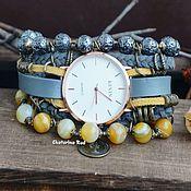 Украшения handmade. Livemaster - original item Watch with natural stones