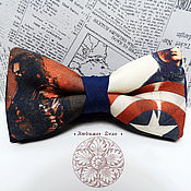 Аксессуары handmade. Livemaster - original item tie captain america/ the winter soldier/ superhero/ marvel/. Handmade.