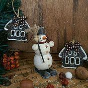 Подарки к праздникам ручной работы. Ярмарка Мастеров - ручная работа Снеговик Кофейный - винтажный. Handmade.