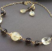 Украшения handmade. Livemaster - original item The necklace and earrings are a RAY of SUNSHINE of the citrine and Topaz. Handmade.