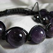 Украшения handmade. Livemaster - original item Shamballa bracelet with amethyst