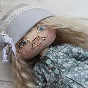 Куклы и игрушки ручной работы. Ярмарка Мастеров - ручная работа Текстильная кукла Татьяна в бирюзовом. Handmade.