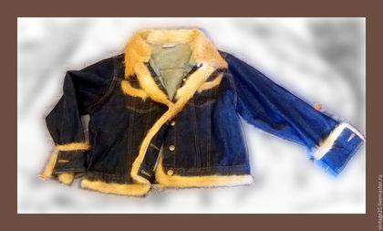 Одежда. Ярмарка Мастеров - ручная работа. Купить Куртка американка оригинал новая 1970 год с натуральным мехом. Handmade. Комбинированный, джинса