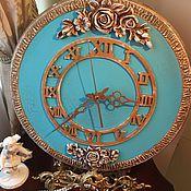 Для дома и интерьера ручной работы. Ярмарка Мастеров - ручная работа Часы настенные Tiffany. Handmade.