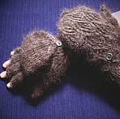 Аксессуары handmade. Livemaster - original item Women`s mittens-transformers `Chocolate breeze`. Handmade.