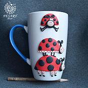 Посуда handmade. Livemaster - original item Ladybug mug. Handmade.