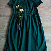 Одежда ручной работы. Ярмарка Мастеров - ручная работа Изумрудное платье в бохо стиле. Handmade.