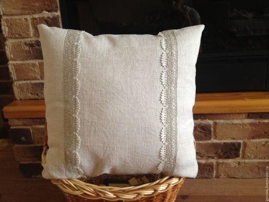 Текстиль, ковры ручной работы. Ярмарка Мастеров - ручная работа. Купить Подушка 3. Handmade. Серый, подушка, лён