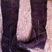 Винтажная обувь ручной работы. Ярмарка Мастеров - ручная работа Сапоги натур.замша/мех Caprice 39 размер. Handmade.