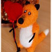 Куклы и игрушки ручной работы. Ярмарка Мастеров - ручная работа Лисичка с сердечком. Handmade.