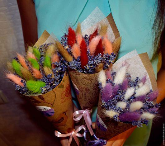 Букеты ручной работы. Ярмарка Мастеров - ручная работа. Купить Букет Крымской горной лаванды (сухоцветы). Handmade. Фиолетовый, лаванда