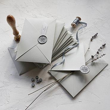 """Сувениры и подарки ручной работы. Ярмарка Мастеров - ручная работа Конверт """"Благородный серый"""". Handmade."""