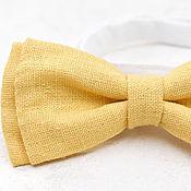 Аксессуары ручной работы. Ярмарка Мастеров - ручная работа ярко-желтая галстук-бабочка. Handmade.