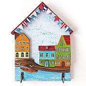 Для дома и интерьера ручной работы. Ярмарка Мастеров - ручная работа Домик-ключница в морском стиле. Handmade.
