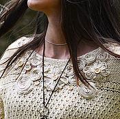 Одежда ручной работы. Ярмарка Мастеров - ручная работа Вязаный свитер Sharlote , бохо свитшот , эксклюзивный свитер бохо. Handmade.