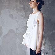 Одежда ручной работы. Ярмарка Мастеров - ручная работа топ с завязками RUZANNA GUKASYAN. Handmade.