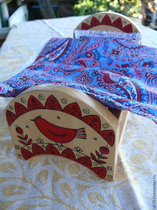 Кукольный дом ручной работы. Ярмарка Мастеров - ручная работа. Купить Кроватка  с Мезенкой. Handmade. Разноцветный, мезенская роспись
