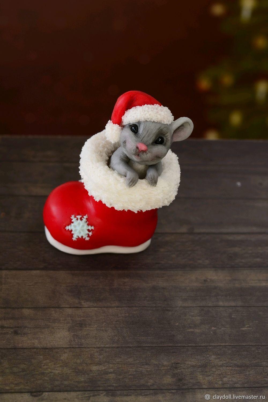 Мышка. Кукла из полимерной глины, Куклы, Москва, Фото №1