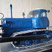 Куклы и игрушки ручной работы. Ярмарка Мастеров - ручная работа Игрушка-модель советского трактора ДТ-75М Казахстан. Handmade.