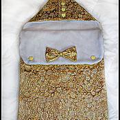 """Работы для детей, ручной работы. Ярмарка Мастеров - ручная работа Конверт на выписку """"королевское золото"""". Handmade."""