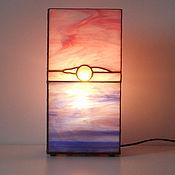 Для дома и интерьера handmade. Livemaster - original item Lamp Dawn by the sea. Stained glass lamp. Decorative lamp. Handmade.