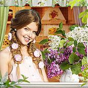 """Фото ручной работы. Ярмарка Мастеров - ручная работа Фотошаблон """"А за окном - весна!"""". Handmade."""