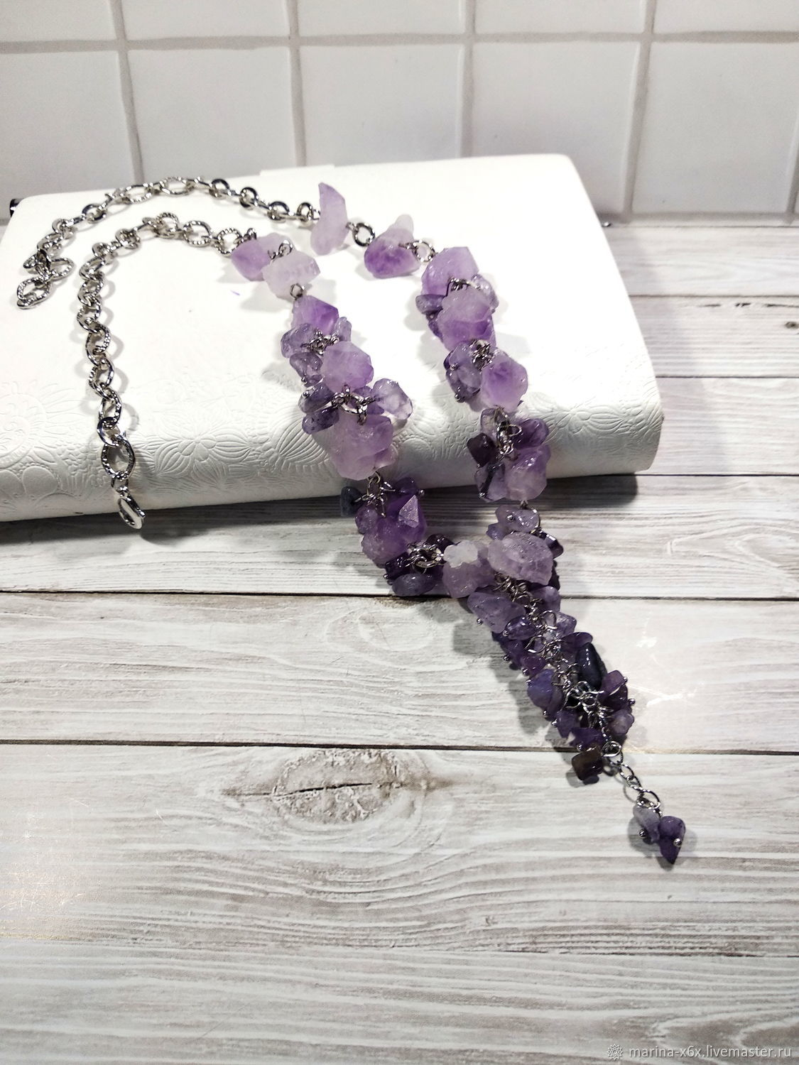 Necklace with natural amethyst, Necklace, Moscow,  Фото №1