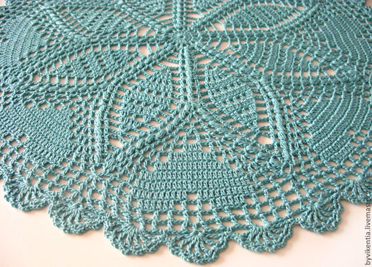 Текстиль, ковры ручной работы. Ярмарка Мастеров - ручная работа. Купить Салфетка крючком  морская волна. Handmade. Салфетка