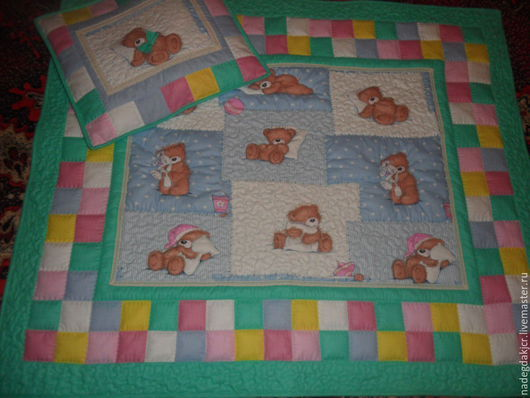 Пледы и одеяла ручной работы. Ярмарка Мастеров - ручная работа. Купить Комплект наволочка и одеяло. Handmade. Разноцветный, наволочка пэчворк