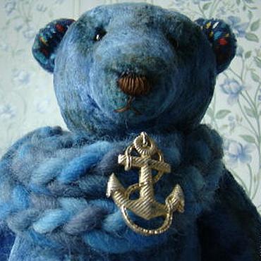 """Куклы и игрушки ручной работы. Ярмарка Мастеров - ручная работа Миша """"Тоска по морю"""". Handmade."""