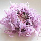 Украшения handmade. Livemaster - original item Silk flowers. Decoration brooch hairpin Chrysanthemum Pink Lila. Handmade.