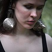 handmade. Livemaster - original item Vintage stud earrings. Handmade.