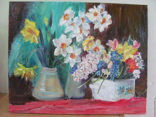 """Картины цветов ручной работы. Ярмарка Мастеров - ручная работа. Купить Картина маслом """" Весенний бал цветов"""". Handmade."""