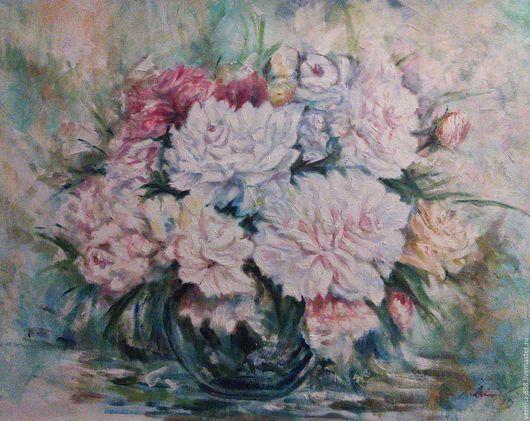 Картины цветов ручной работы. Ярмарка Мастеров - ручная работа. Купить нежные цветы. Handmade. Букет цветов, натюрморт