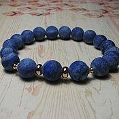 Украшения handmade. Livemaster - original item Bracelet with matt lapis lazuli