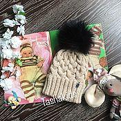 Работы для детей, ручной работы. Ярмарка Мастеров - ручная работа Шапка детская с помпоном. Handmade.