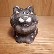 Статуэтка ручной работы. Ярмарка Мастеров - ручная работа Подарки: Кот бублик. Handmade.