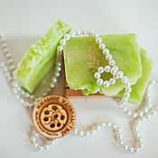 Soap handmade. Livemaster - original item Soap from scratch natural Lily of the Valley silver gift March 8. Handmade.