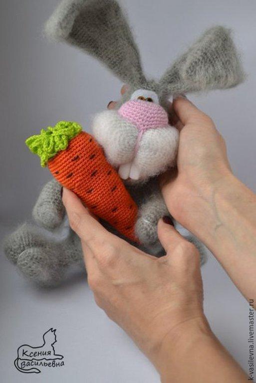 """Игрушки животные, ручной работы. Ярмарка Мастеров - ручная работа. Купить Мастер-класс""""Зая с морковкой""""(описание вязания). Handmade. Мастер-класс"""