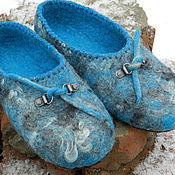 """Обувь ручной работы. Ярмарка Мастеров - ручная работа тапочки """"Морская волна!. Handmade."""