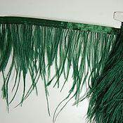 handmade. Livemaster - original item Copy of Trim of ostrich feathers 10-15 cm green. Handmade.