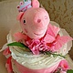 Подарки для новорожденных, ручной работы. Ярмарка Мастеров - ручная работа. Купить Торт из подгузников(памперсов). Handmade. Бледно-розовый, памперсный торт