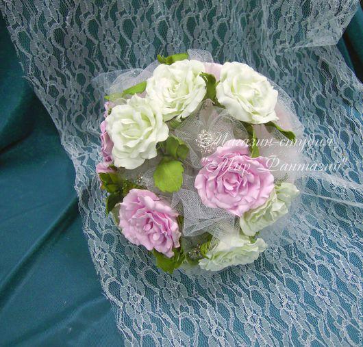Свадебные цветы ручной работы. Ярмарка Мастеров - ручная работа. Купить Свадебный букет невесты. Розы. Пионы. Ромашки. Handmade.
