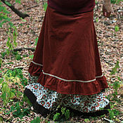 Одежда ручной работы. Ярмарка Мастеров - ручная работа Рыжая юбочка со специями. Handmade.