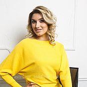 Одежда ручной работы. Ярмарка Мастеров - ручная работа Кашемировый свитер желтый. Handmade.