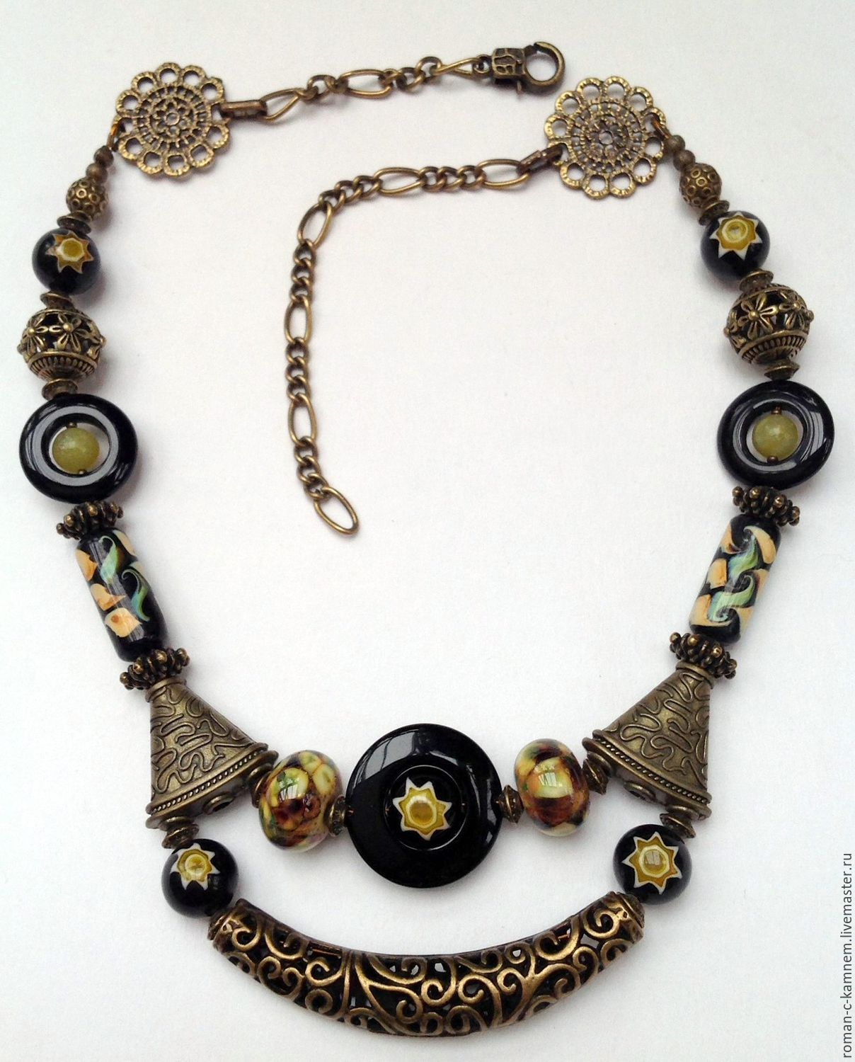 Ethnic necklace in Oriental style Bridges of Venice. Unusual, vivid, memorable necklace, a wonderful gift your friends and loved ones.