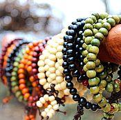 Фен-шуй и эзотерика handmade. Livemaster - original item Buddhist rosary made of sandalwood on 108 grains 8 mm. Handmade.