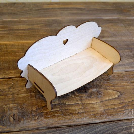 Кукольный дом ручной работы. Ярмарка Мастеров - ручная работа. Купить Диван кукольный. Handmade. Столик из дерева, мебель для куклы