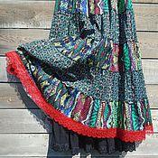 Одежда ручной работы. Ярмарка Мастеров - ручная работа Клюква на болоте - ярусная юбка из плотного хлопка.. Handmade.